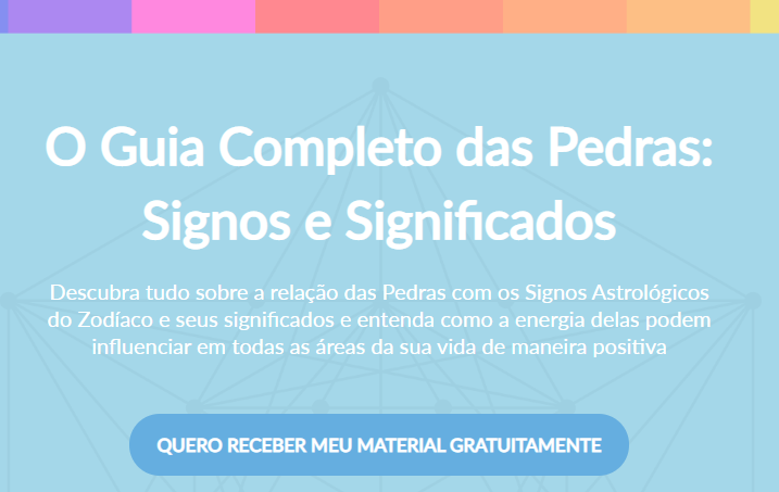 recorte da landing page do cliente shop dos cristais