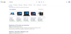 print google shopping busca notebook
