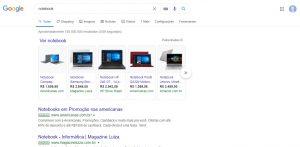print google shopping busca notebook