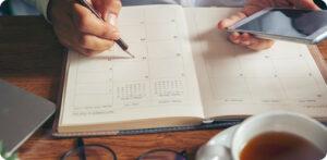 analista de mídia social calendário planejamento