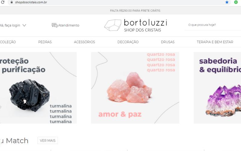 tráfego orgânico e-commerce de joias e cristais bortoluzzi