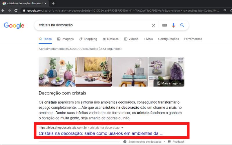 shop dos cristais primeira posição google decoração com cristais